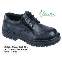 Jual Sepatu Pria safety boots|safety shoes handmade Cibaduyut-Bandung RLI Murah