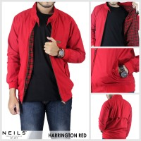 harga JAKET HARRINGTON RED NEILS WINDBREAKER / JAKET VESPA / JAKET MOTOR Tokopedia.com