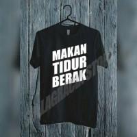 oblong/tshirt/baju/kaos makan tidur berak