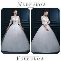 harga Wedding Dress - Gaun Pengantin Tangan Trompet Korea 2015 Tokopedia.com