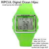 jam tangan digital ripcul ocean unisex hijau full set