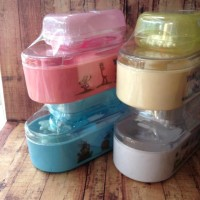Tempat Bedak Bayi Yuki baby Set + Tempat sabun Free Spons bedak