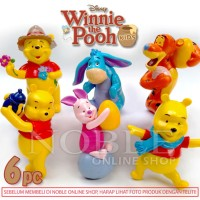 6pc Winnie The Pooh and Friends Figure Set -DISNEY-Pajangan