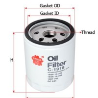 Filter Oli / Oil Ford Fiesta 1400cc, 1600cc