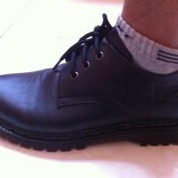 Jual Sepatu Docmart Hitam Low Kulit Asli Murah