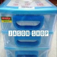 Laci Plastik Kecil / Rak / Mini Container Lion Star Susun 3