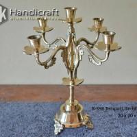 Candle Holder - Tempat Lilin Cabang 5 - Tempat Lilin Kuningan