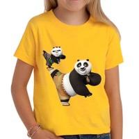 sz graphics/kung fu panda/t shirt anak/kaos anak/yellow