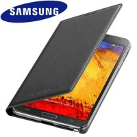 Samsung Galaxy Note 3 Flip Wallet Cover - Jet Black Original