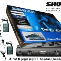 Jual Mic wireless shure UT 42 ll ( clip on + headset Murah