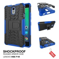 Lenovo Vibe P1M Rugged Shockproof Armor Hybrid Hard & Soft Case Biru