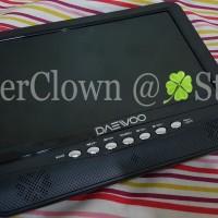 LCD TV Portable 9.5inch Daewoo - Built-in Battery / USB / MMC / TV