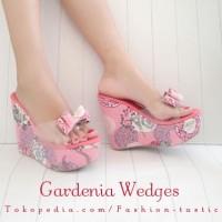 harga Wedges mika Murah GARDENIA WEDGES SM181 Sepatu hak tinggi wanita keren Tokopedia.com