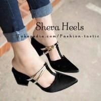 Jual High heels Simple SHERA HEELS SM176 Hitam Sepatu hak tinggi murah kece Murah