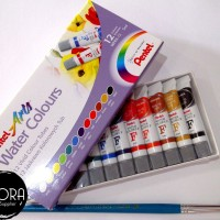 PENTEL ARTS WATER COLOURS 12 / PENTEL CAT AIR 12 WARNA