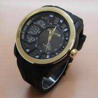 Jam Tangan Police Rubber (Black Gold) JM3766