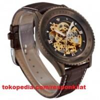 Ouyawei Skeleton Leather Strap Automatic Mechanical Watch - OYW1335