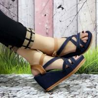 Sendal sepatu wedges wanita(sendal sepatu cewek)