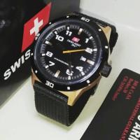 Jam Tangan Original | Swiss Army HC-1021M Kanvas Black List Gold