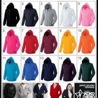 Jaket Dewasa Hoodie Zipper Polos Tebal Jumper Sweater Import Quality