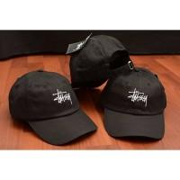 STUSSY BASEBALL CAP BLACK