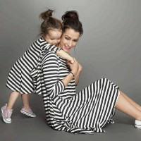 Jual Couple Mom Kid Dress Salur Murah