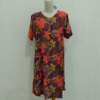 daster kencana ungu/daster batik pendek/baju tidur batik/kencana ungu