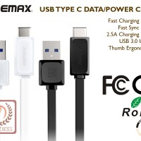 Jual USB Type C Cable Data & Kabel Power Charger Brand Remax Murah