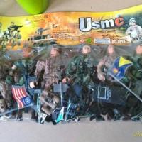 Mainan Anak Mainan Edukasi Army HIJAU SET 6in1