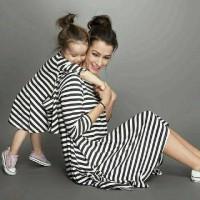 Jual Couple Dress Salur Mom Kid black Couple Ibu dan Anak Baju Keluarga Murah