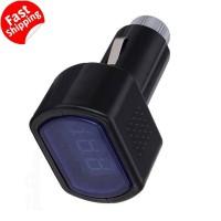 Digital Baterai 12 Volt Meter Mobil, Stabilizer Voltage Ampere Mini