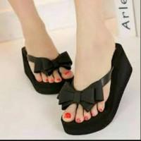 Jelly Shoes Pita Ribbon Elizabeth Js30 Sandal Jelly   Sandal Wanita