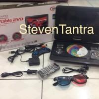DVD / EVD Portable 13.8inch Daewoo (MP4 / USB / Battery / AntiShock)