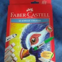 Cat Lukis Akrilik Faber Castel 12 Free Palet dan Kuas