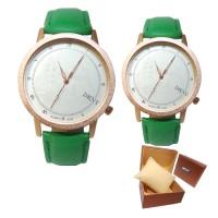 Jam Tangan Kulit Pasangan DKNY LondonBridge Couple Watch Leather Brown