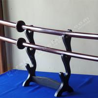 Bokken with Tsuba Dark Brown Glossy (pedang Kayu)