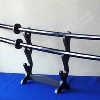 Bokken with Tsuba Black Glossy Type 02(pedang Kayu)