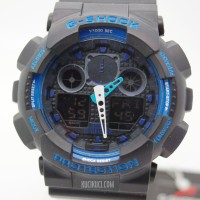 Jam Tangan Casio G-Shock GA 100 / Arloji Blue Black G-shock / G-shock