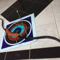 WoodBow 40 Full Pvc Rucika Panah Busur Draw Weight standar Archery