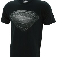 Kaos/Baju Distro Superhero Superman Man Of Steel Logo Version Black