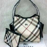 TAS BURBERRY SAHARA 2in1 SET POUCH SEMI PREMIUM (bisa 2 model)