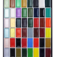 11187048 Nihonga Sumi-e Watercolor Paint Pan Set, 48 Colors