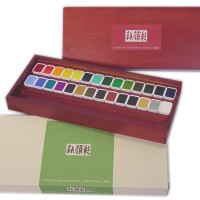 N353 Holbein Sumi-e Cake Paint Set Of 28 Color