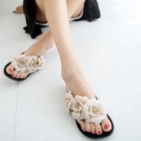 Flat Jelly Bunga | Sandal Flat | Sandal Wanita | Sandal Jelly | Sandal
