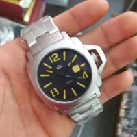 Jam Tangan Quicksilver Date Lanai Rantai Silver List Yellow