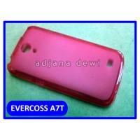Silikon Case Evercoss Cross A7t Merah Transparan