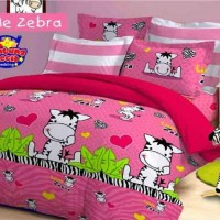 Bed Cover Set ukuran 120 Little Zebra