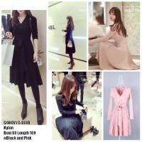 harga SXWDVYC Dress Hitam Dress Pink Dress Lengan Panjang Dress Vintage Tokopedia.com
