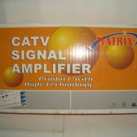 Penguat / Booster Sinyal TV (CATV Amplifier) Indoor 2Way Splitter Matrix