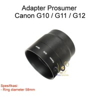 Adapter Prosumer untuk Canon G10/G11/G12